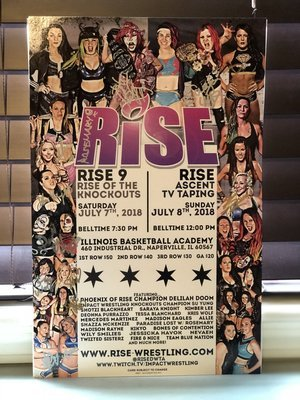 RISE 9 + RISE - ASCENT Full Weekend Signed Poster