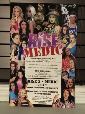 RISE 3 - MEDIC Signed Poster