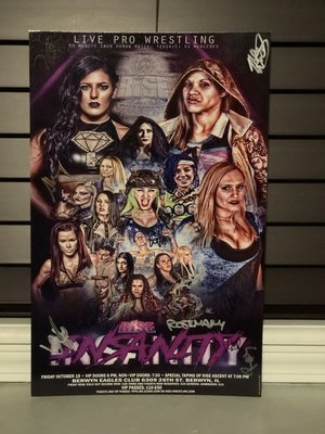 RISE 10 - INSANITY V2 Signed Poster