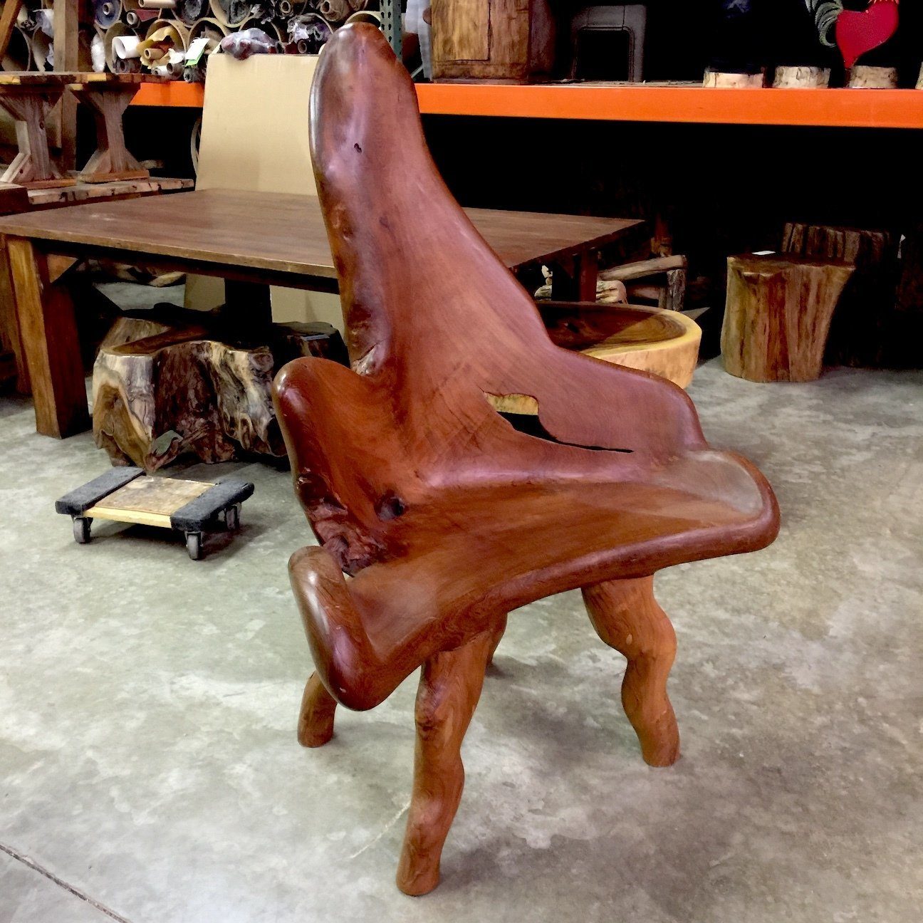 Large Teak Root Chair