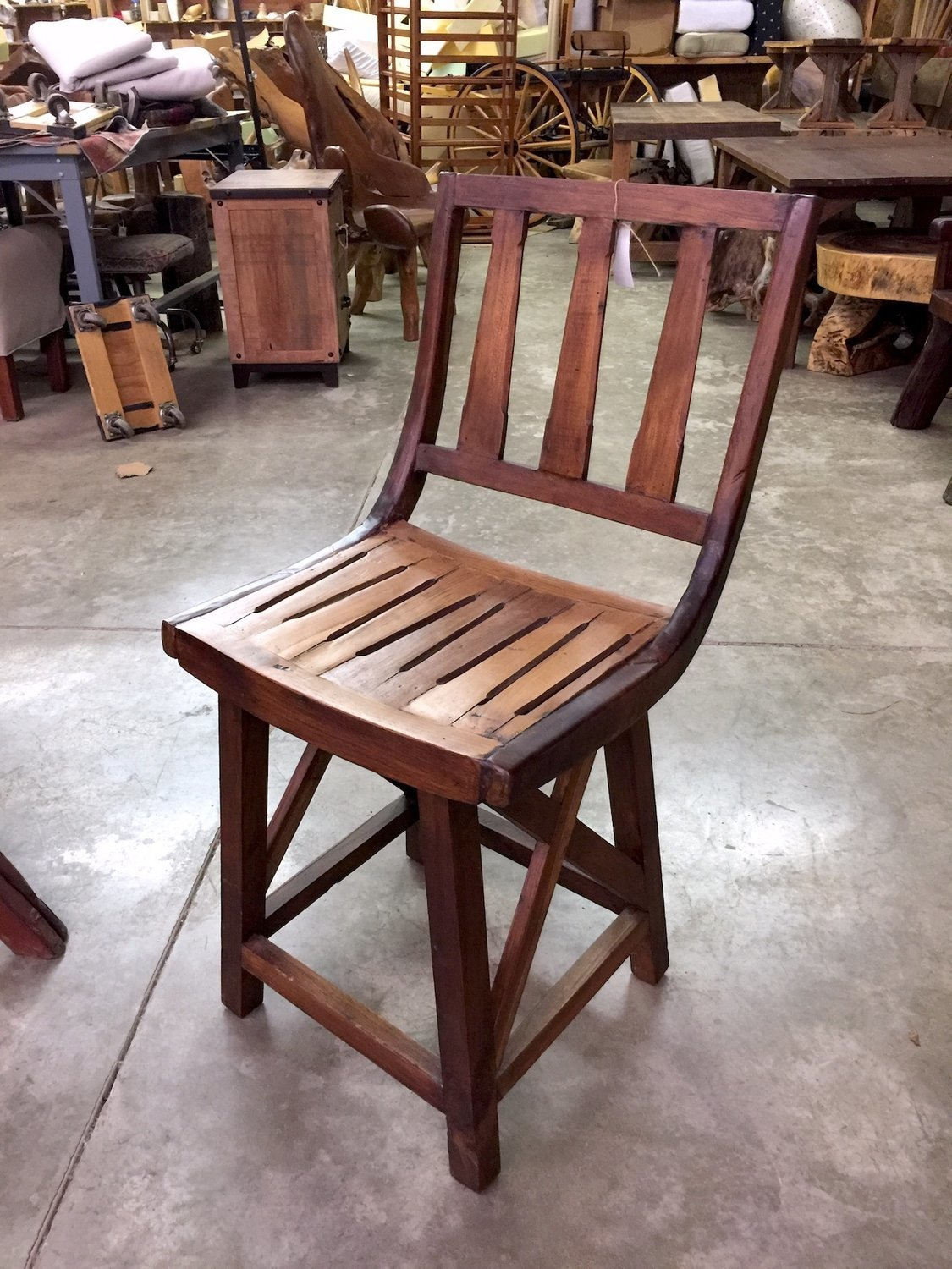 Teak Rustic Bar Stool