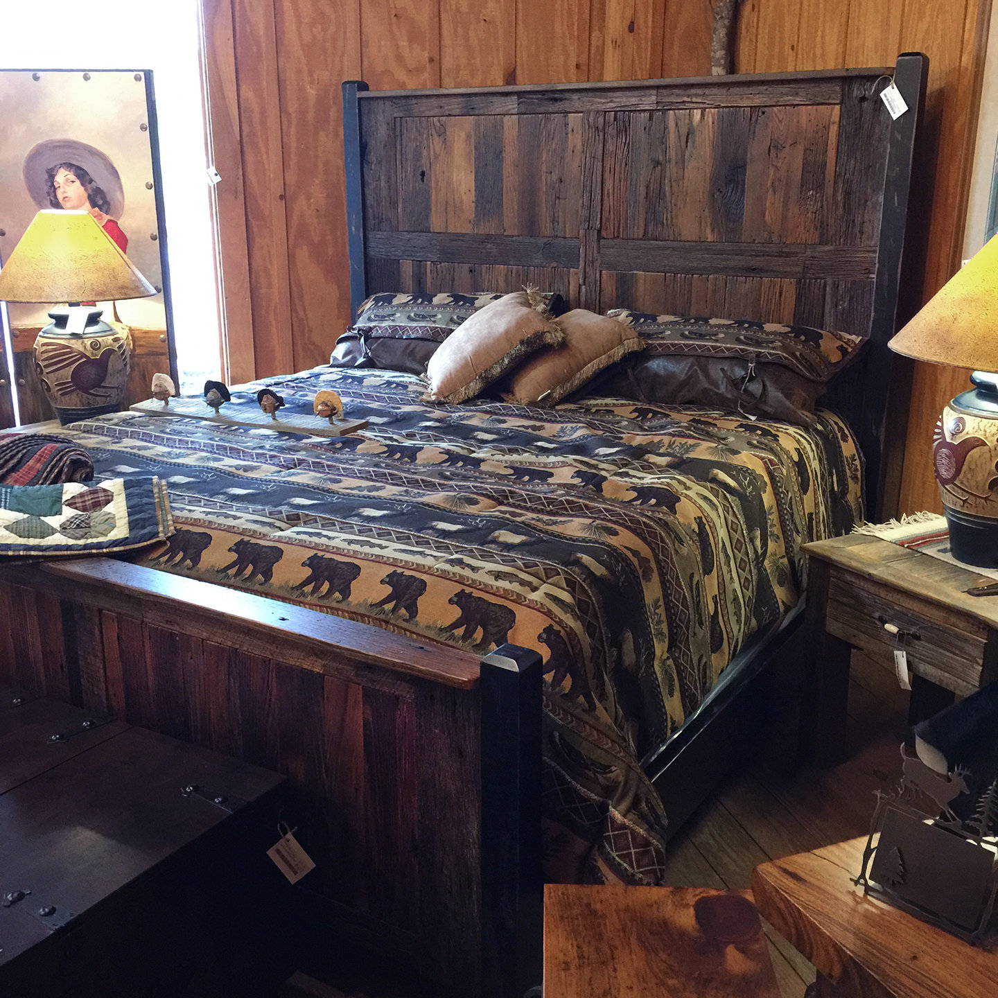 Chestnut Reclaimed Wood King Bed