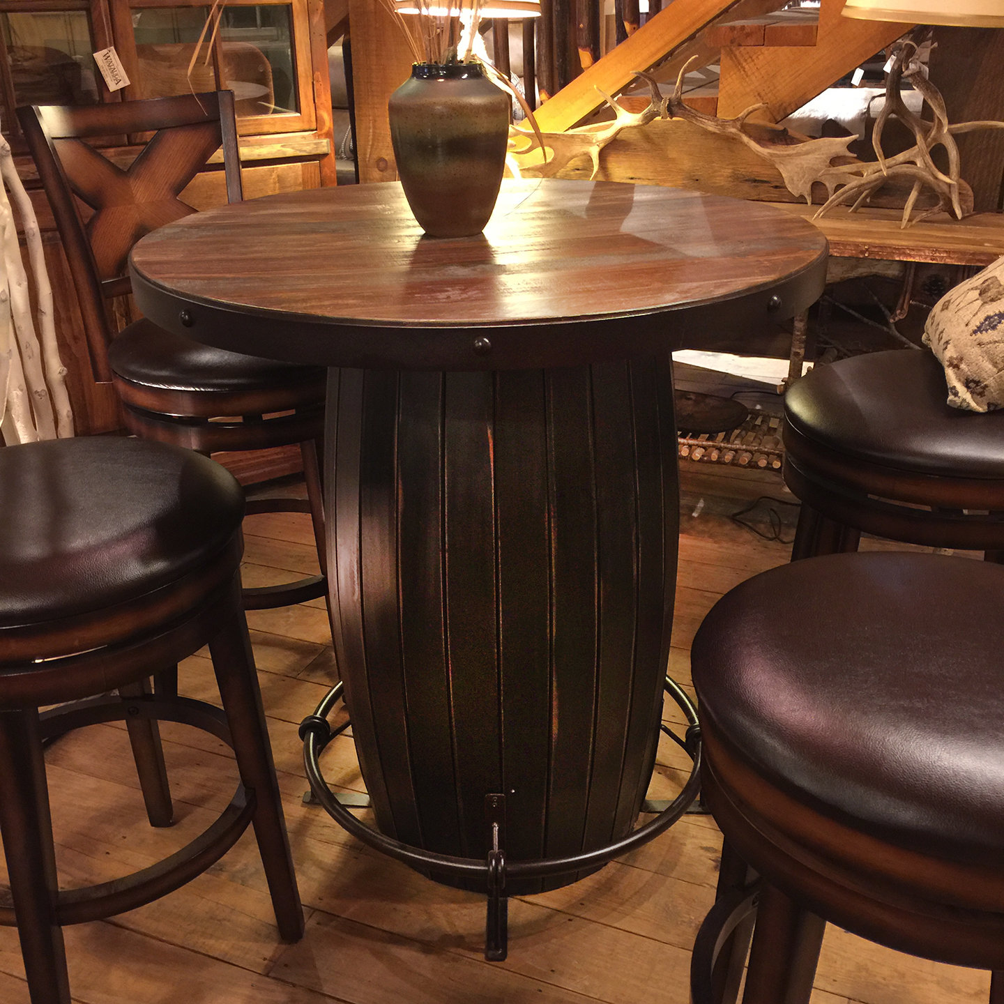 Bistro Barrel Design Table