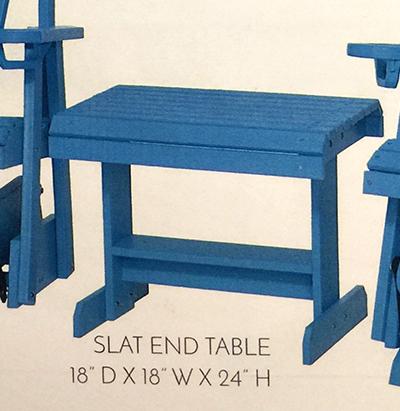 SLAT END TABLE