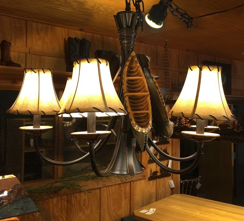 Old River Canoe Chandelier- Large