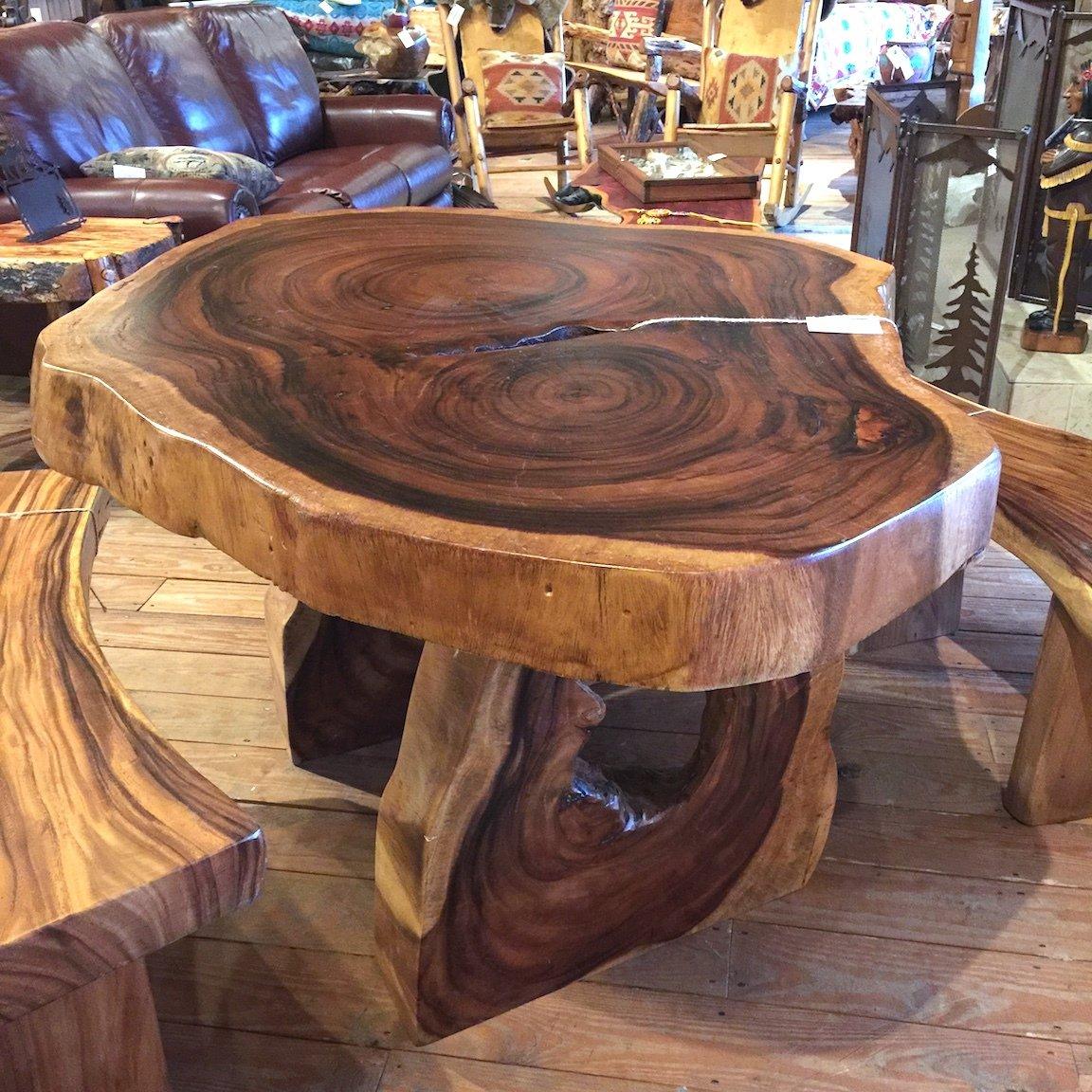 Oval Monkey Pod Table