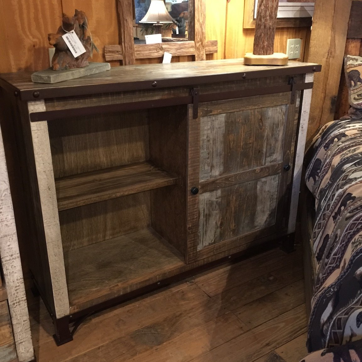 Antique MC 3 Drawer, 1 Sliding door Chest