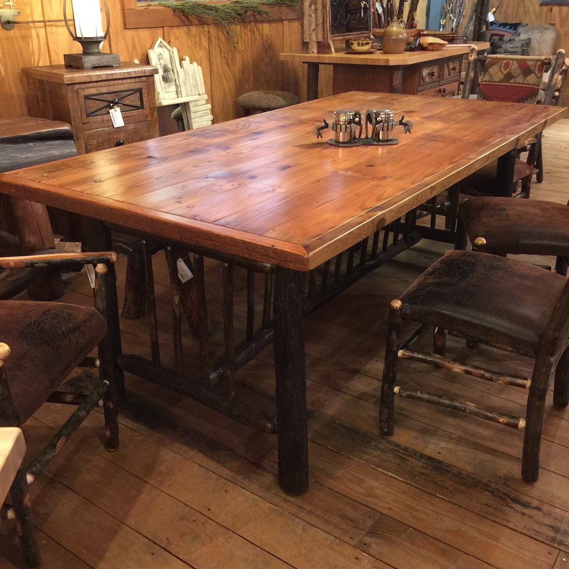 Old Yellowstone Original Spindle 7' Dining Table 31 x 84 x 42