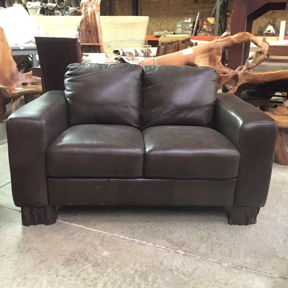 Loveseat Dark Brown