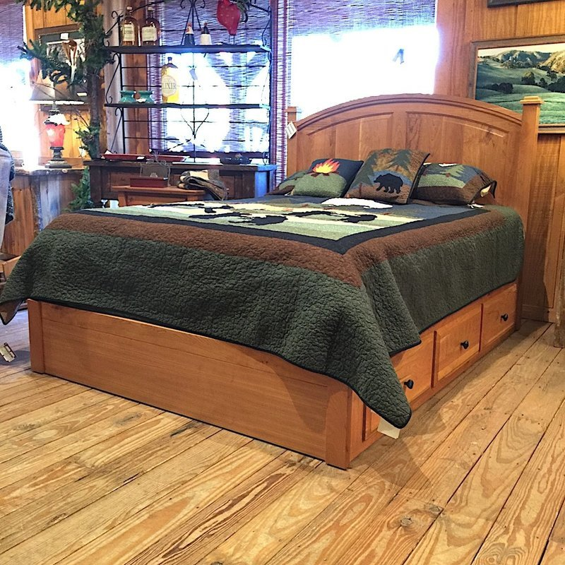 Franklin Queen Bed with 3 Drawer Storage Rails
