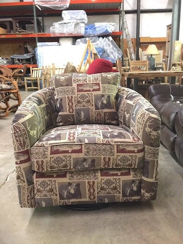 Maddux Occasional Swivel Glider Chair