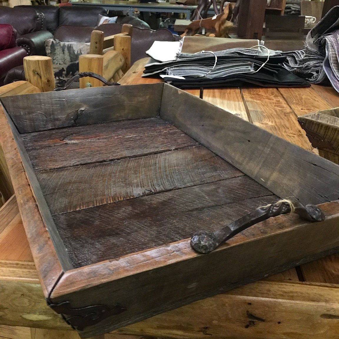 Square Wooden Serving Tray