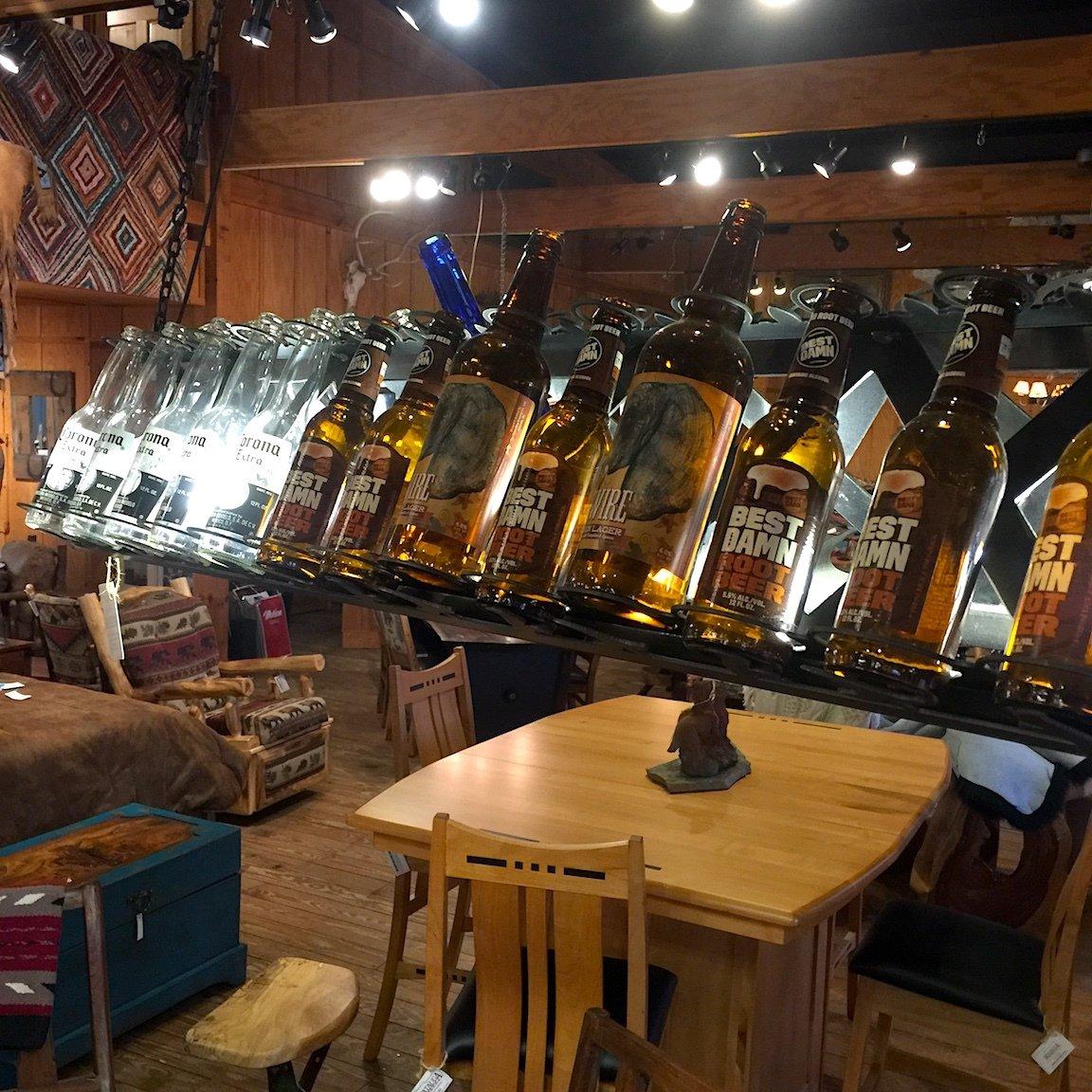 Light Beer/Wine Chandelier