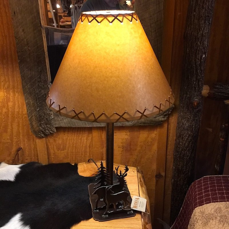 Rustic Table Lamp with Shade