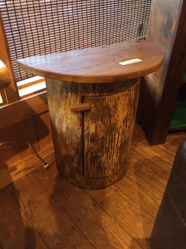Teal Half Barrel Table