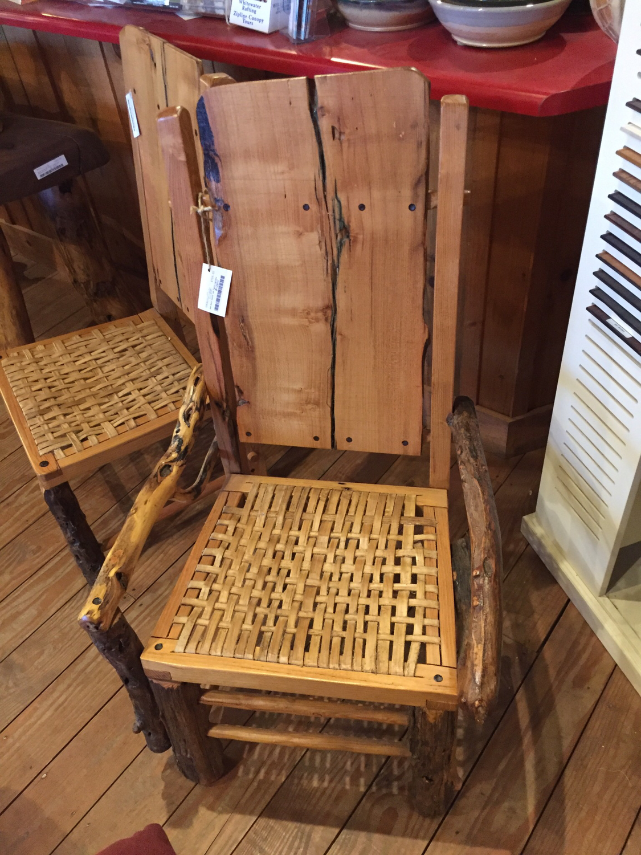 Arm Chair Locust and Poplar Splints