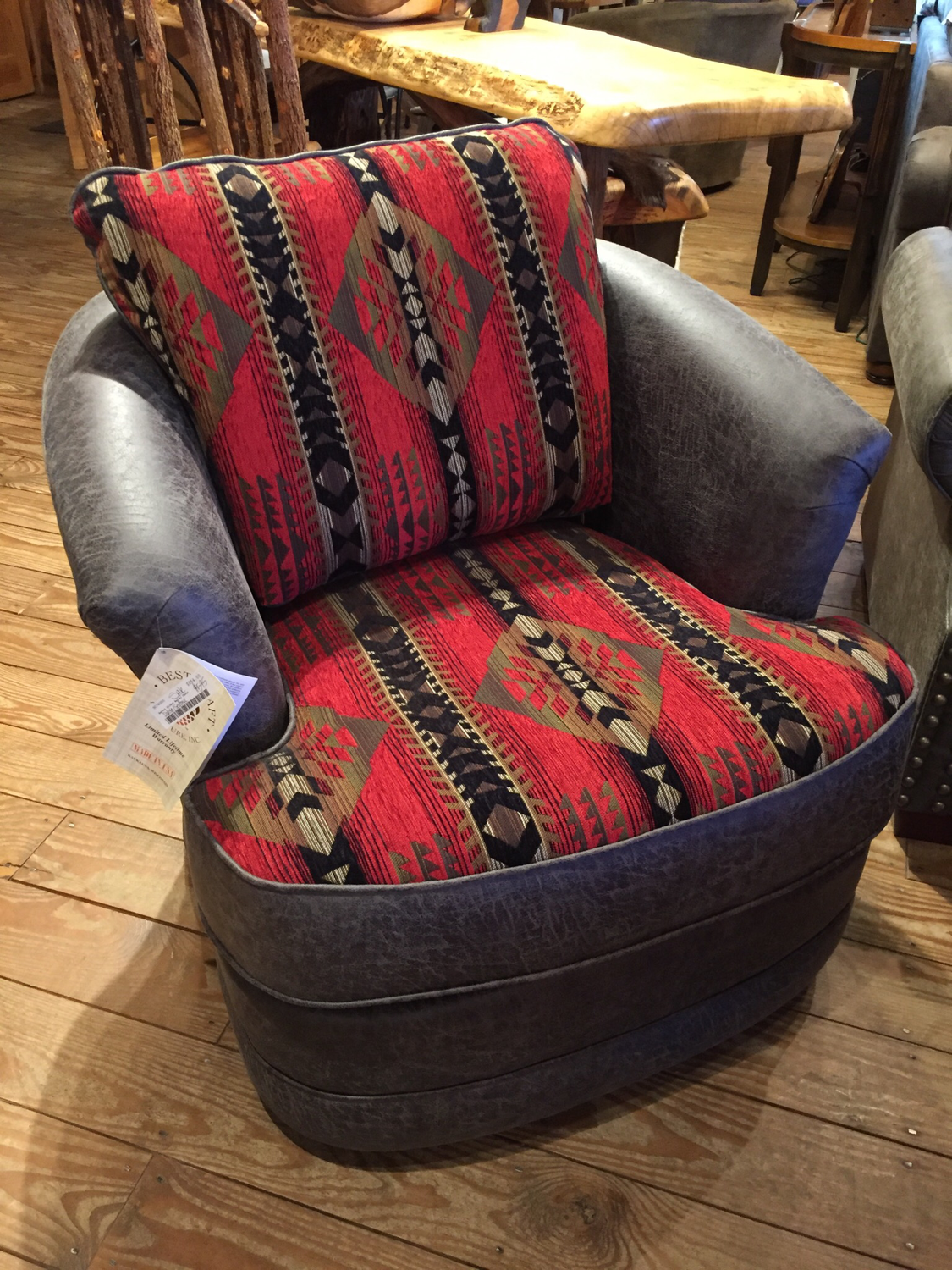 Swivel Glider Barrel Chair
