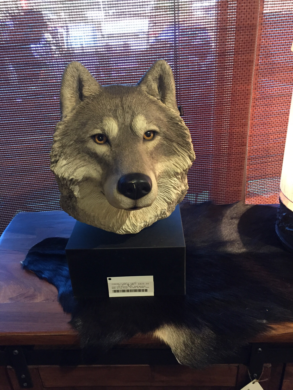 Sand Cast Plaster Wolf