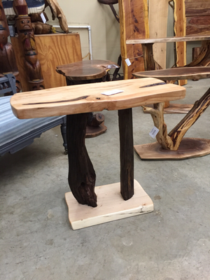 Maple Top w/Wormy Chestnut Base Table