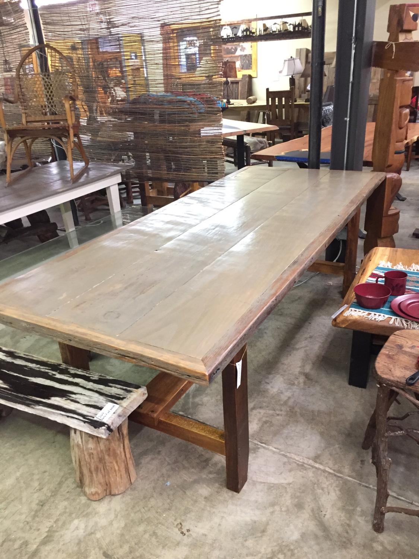 Farm Table 8' with Chestnut Base
