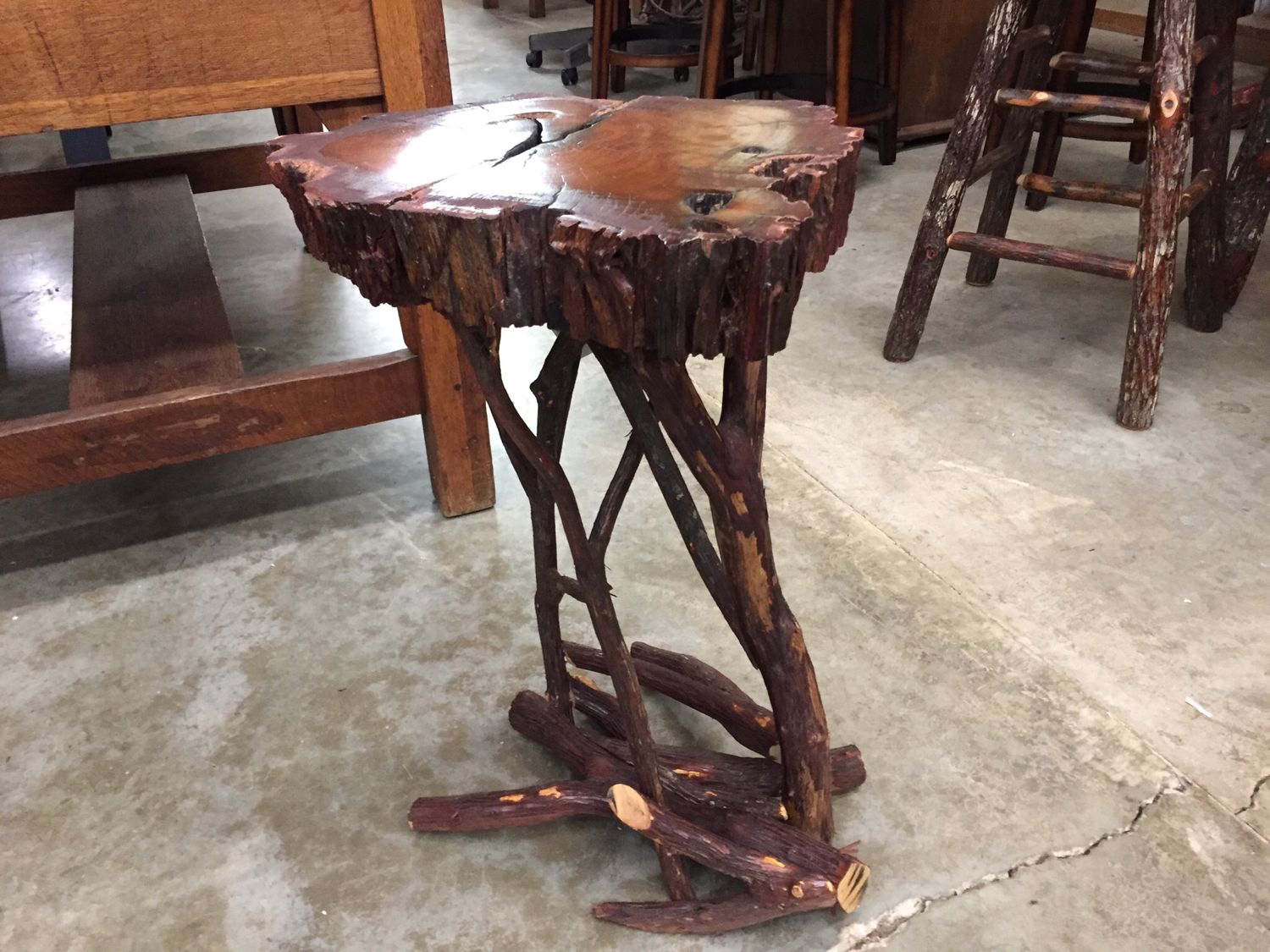 Teak and Laurel Side Table