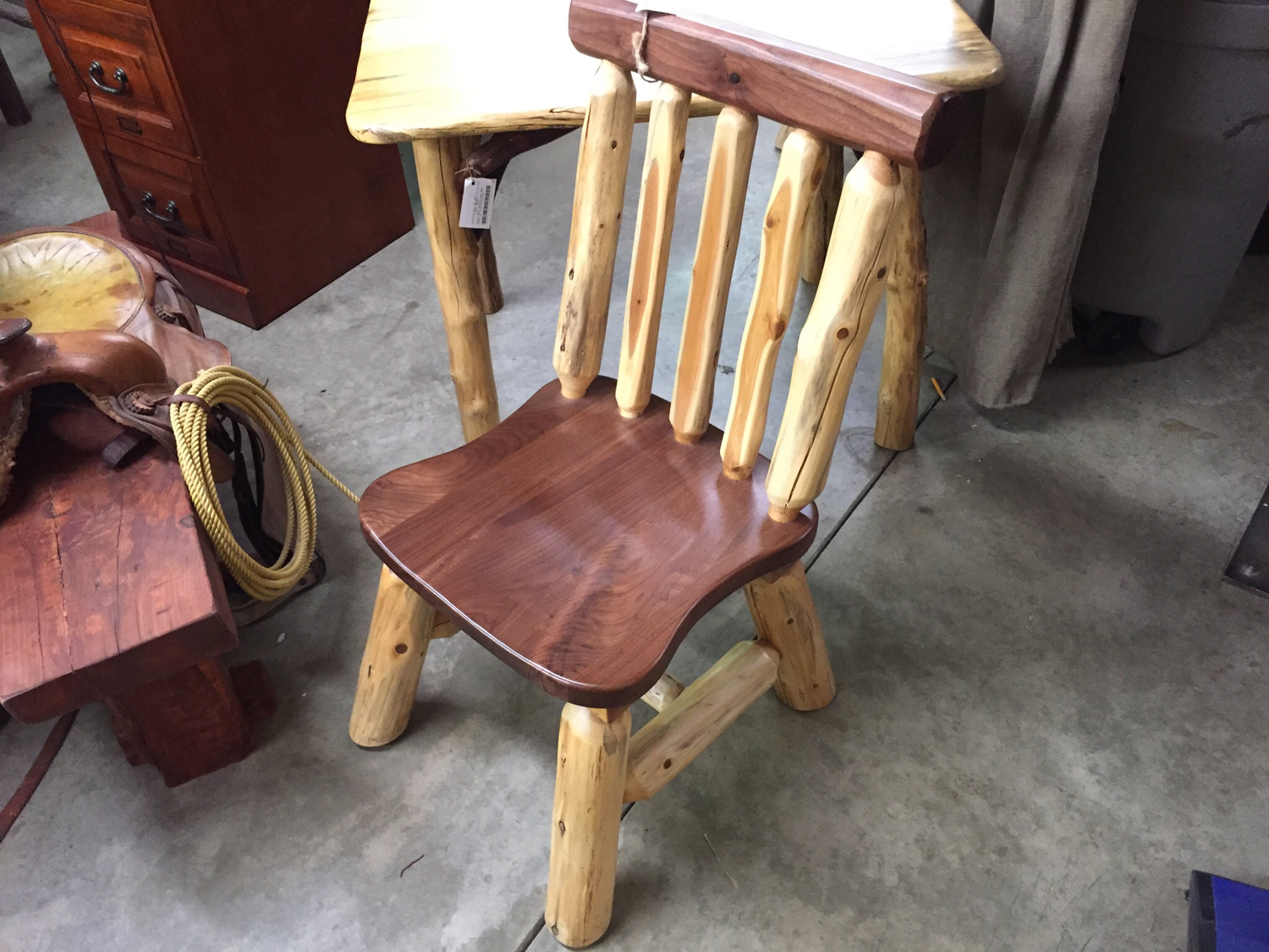 Walnut Rustic Side Chair