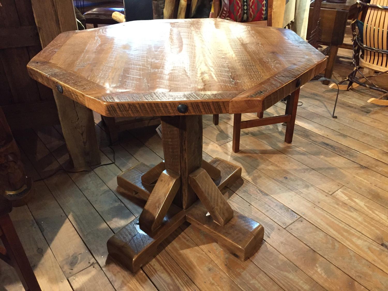 Reclaimed Barnwood Octagon Table