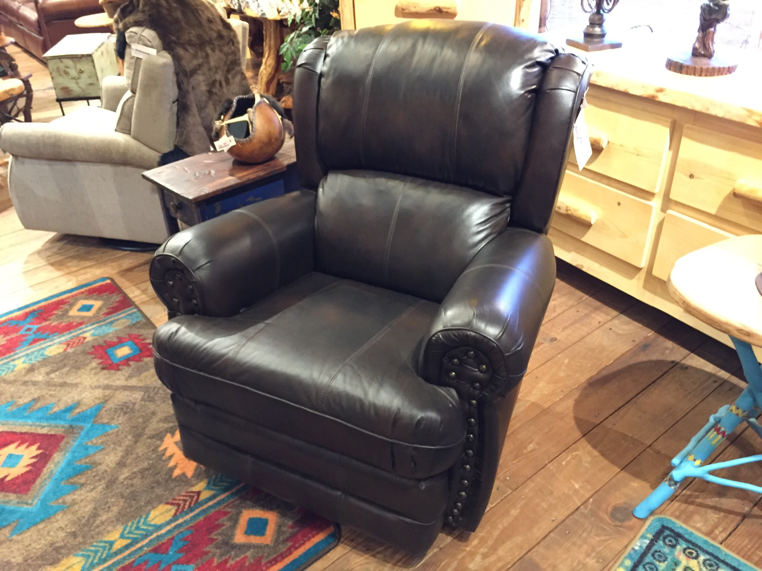 Buckingham Rocker Recliner Chocolate Leather