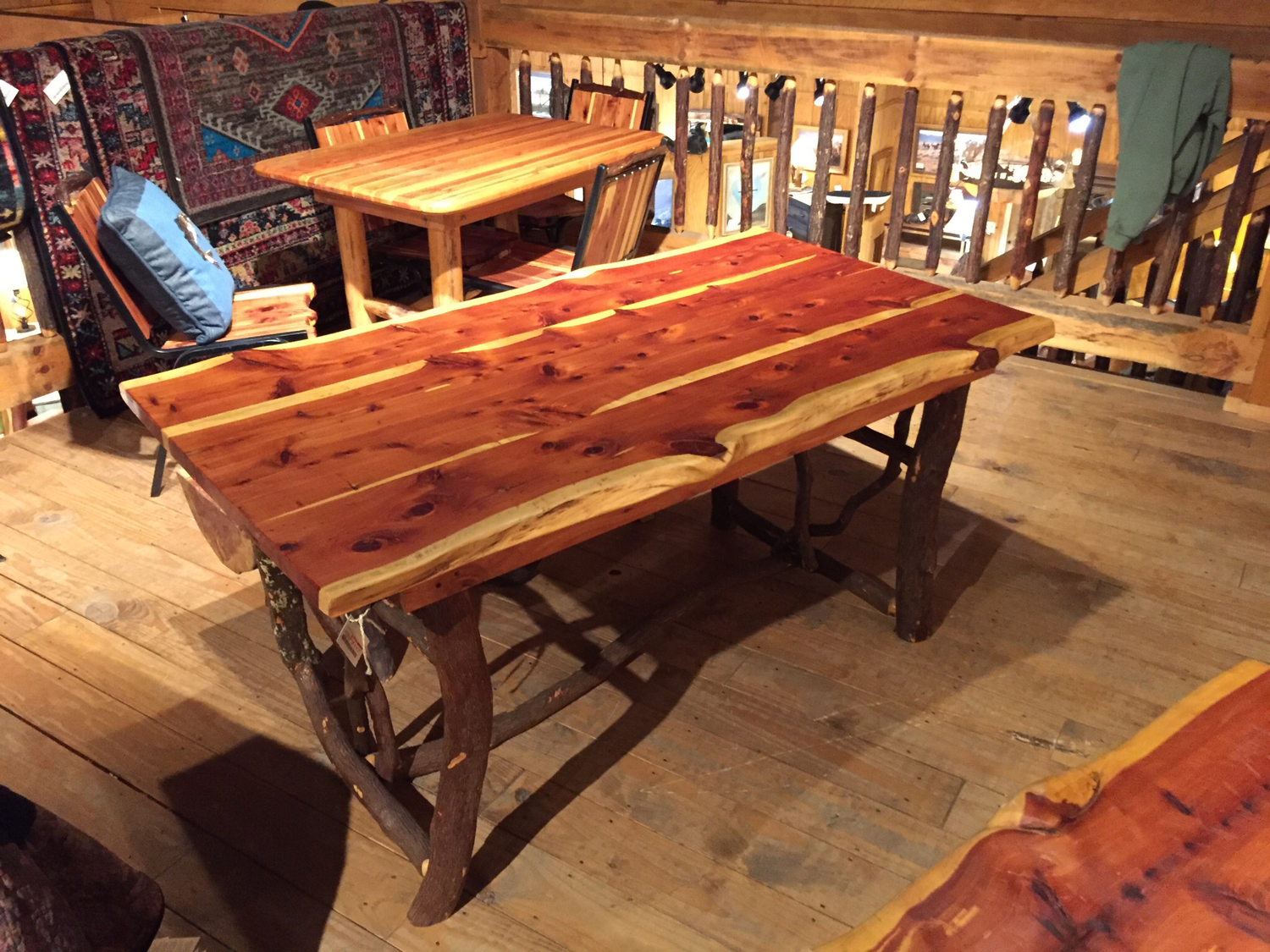 Cedar Table with Chairs