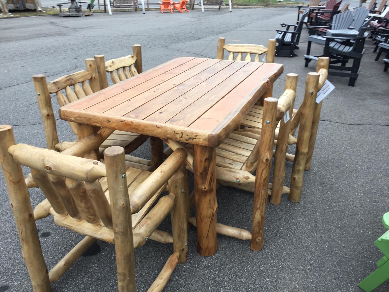 Aspen Log Porch Set