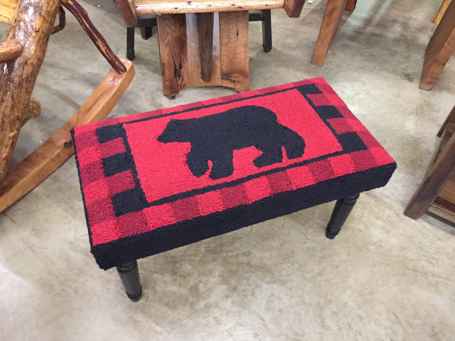 Buffalo Check Bear Hook Bench