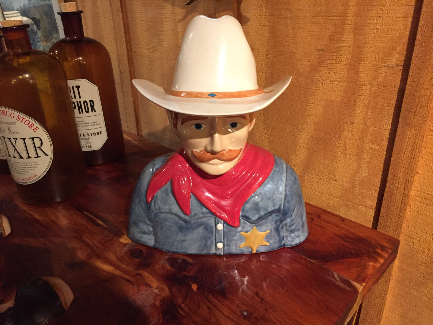 Cowboy Cookie Jar