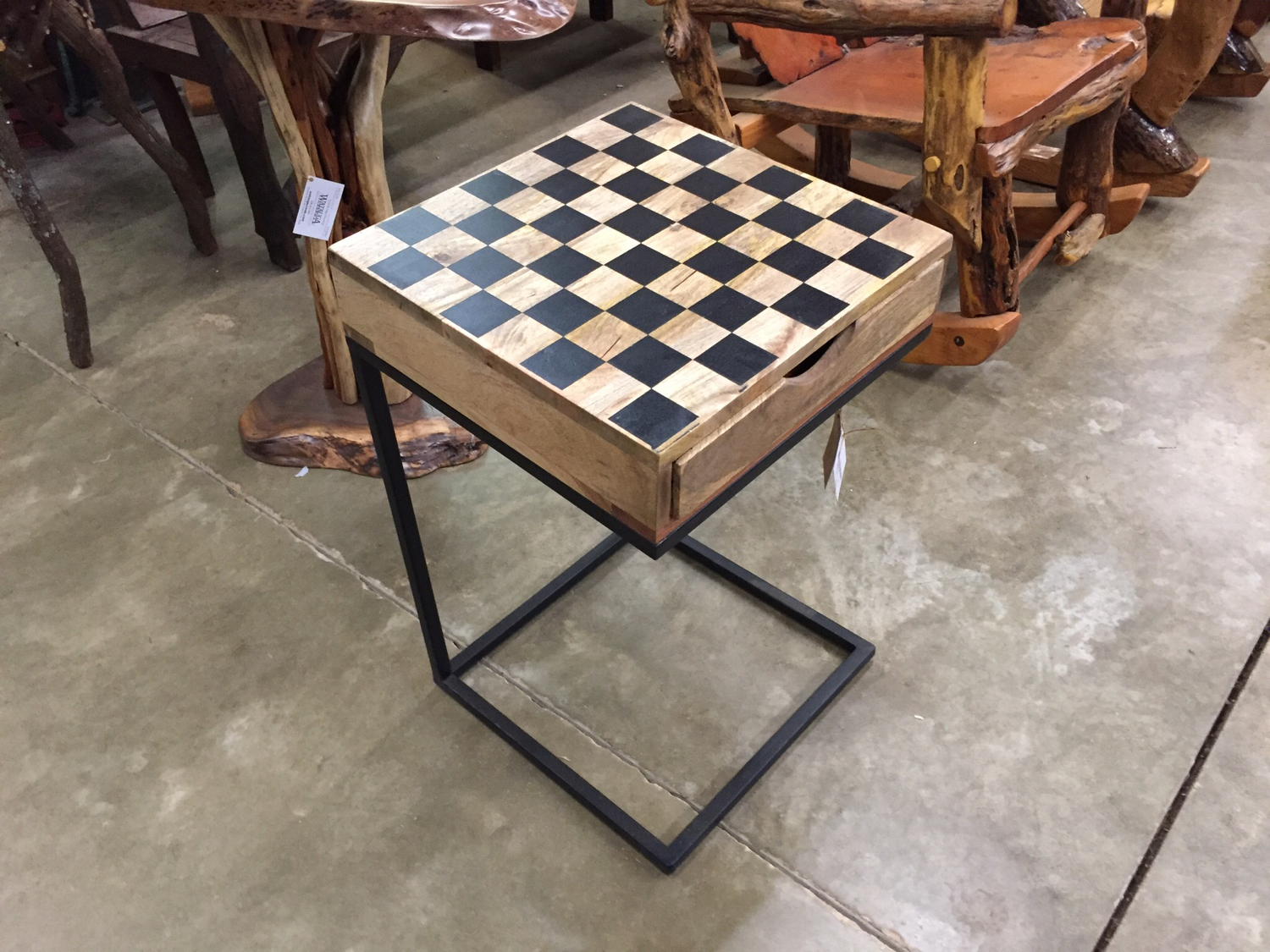 Checker Board C Table w/Checkers