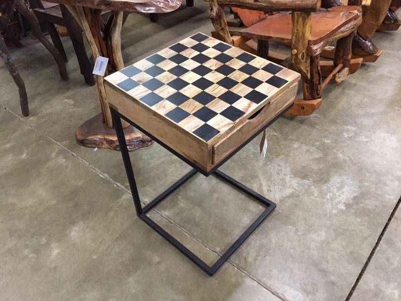 Checker Board C Table w/Checkers