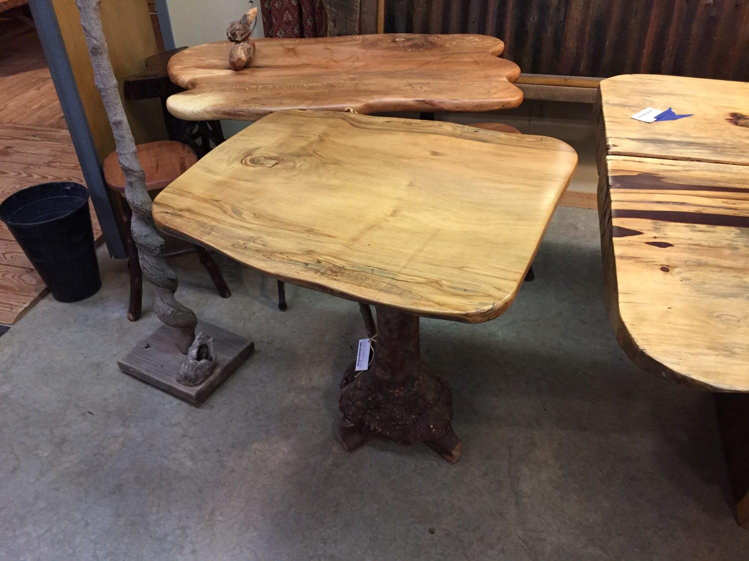 Burrel Base Maple Top Table