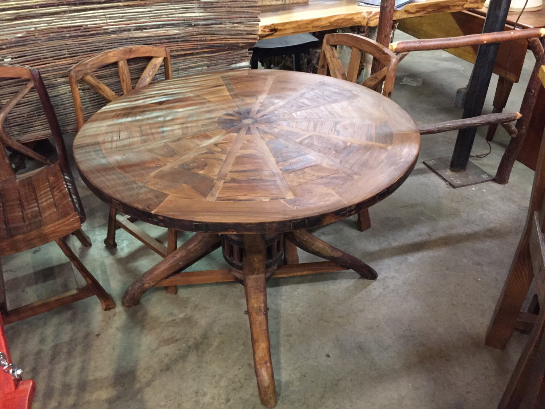 Wagon Wheel Solid Top Table