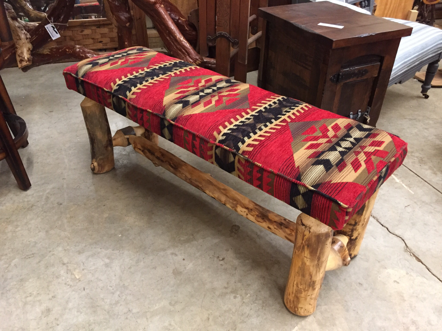 4' Bench with Upholstered Seat