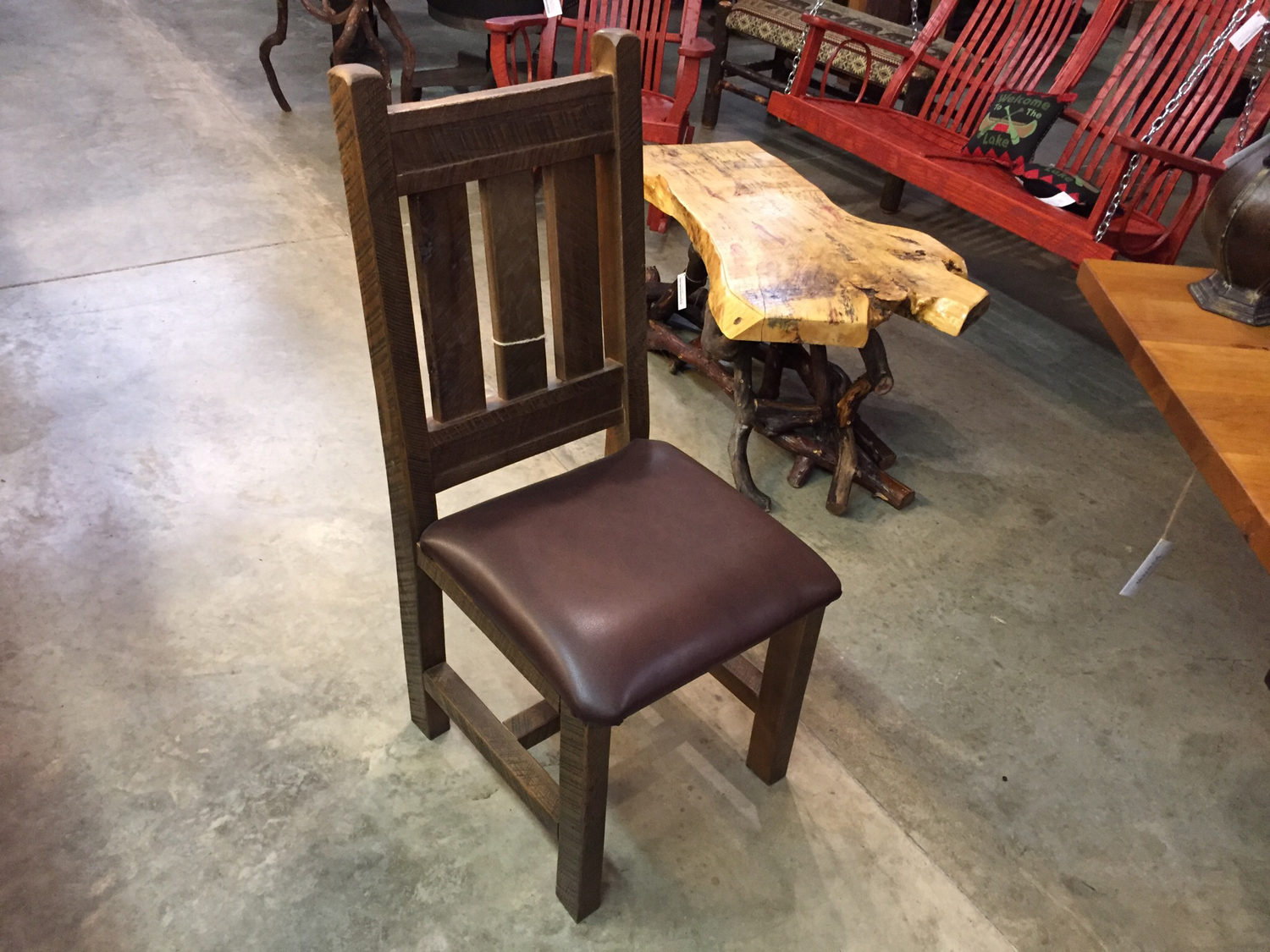 Dining Chair with Leather Seats