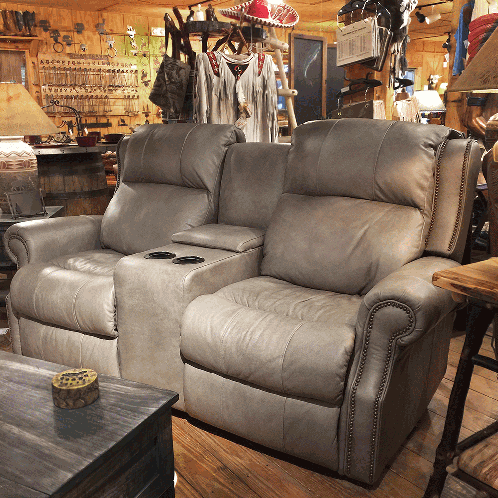 Power Reclining Love Seat w/Console