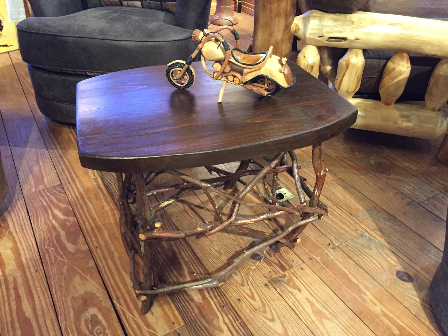 Oak Coffee Table with Laurel Base