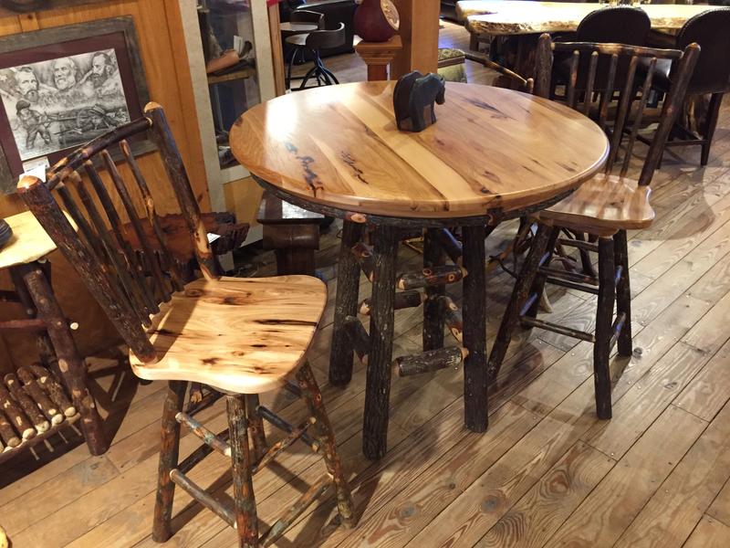 Hickory Log Pub Table