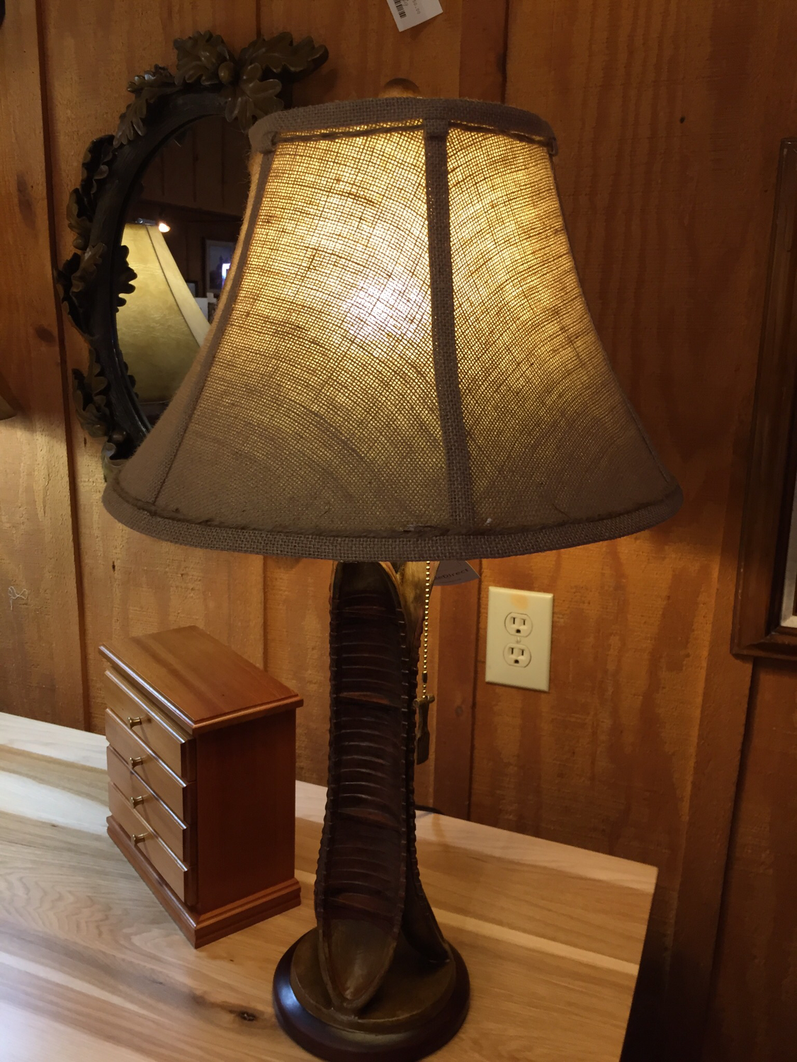"30""H Canoe Table Lamp"