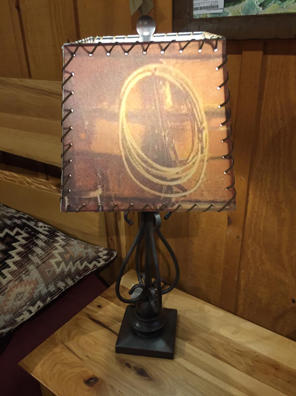 "27.5"" Metal Lamp/Lasso Silhouette Shade"