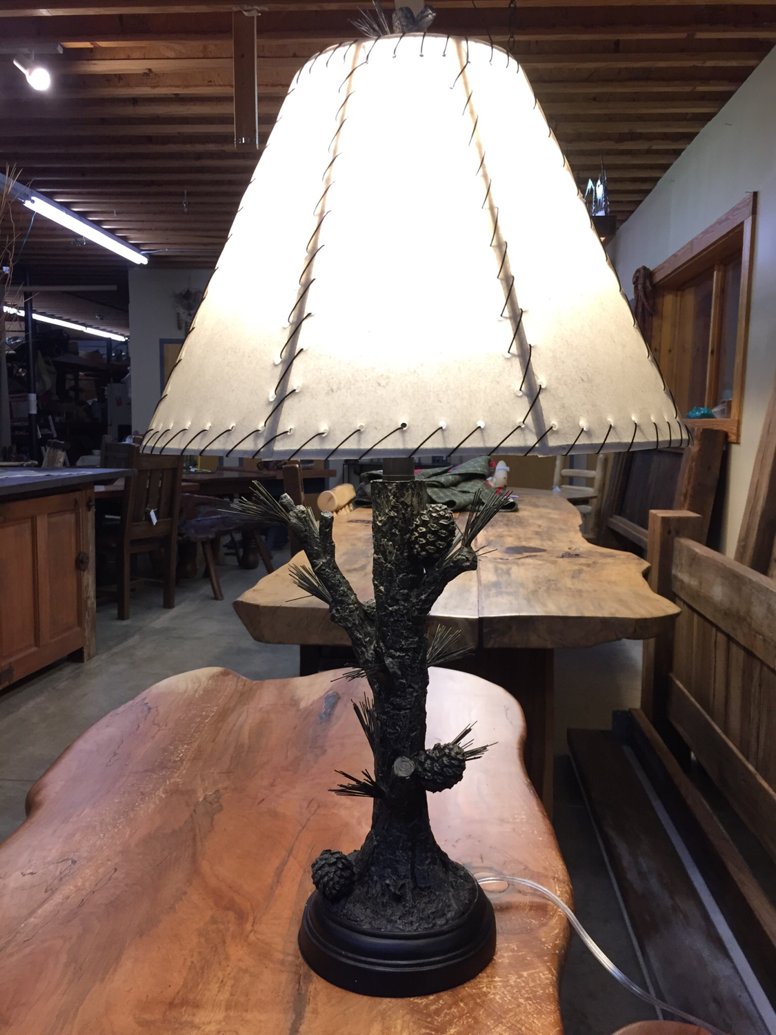 """31""""H Pinecone Table Lamp"""