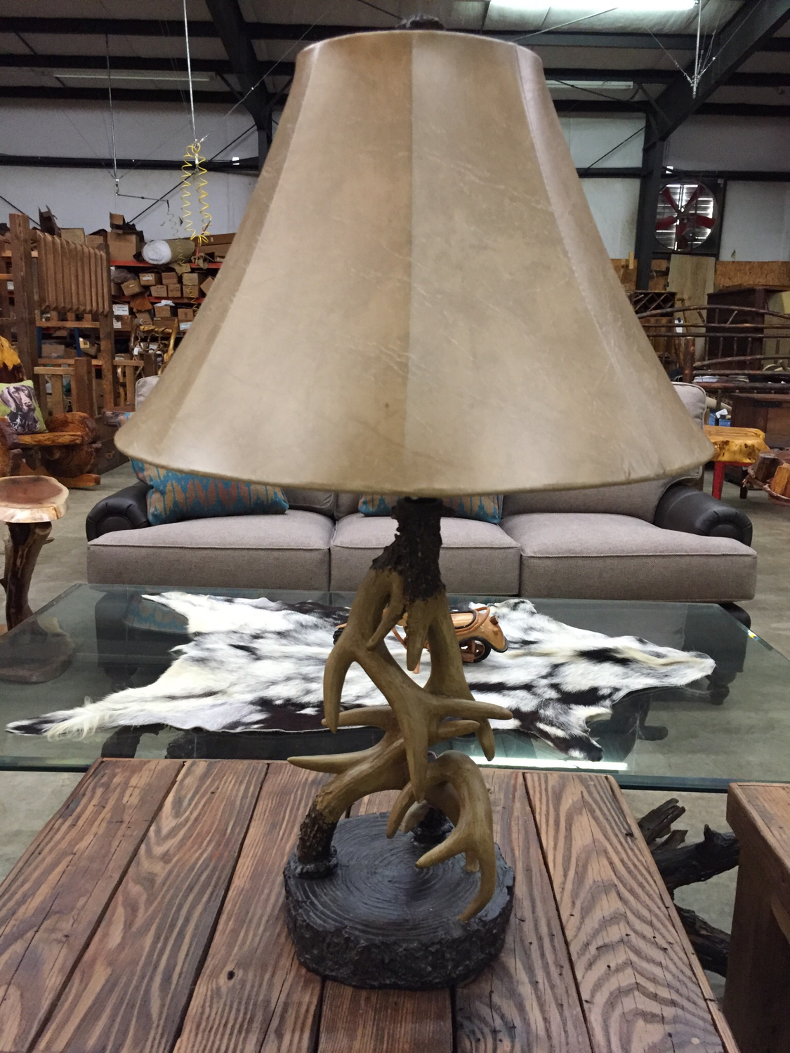 "29.5""H Antler Table Lamp"