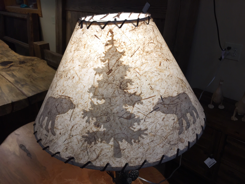 Lamp Shade White Paper with Bear Scene