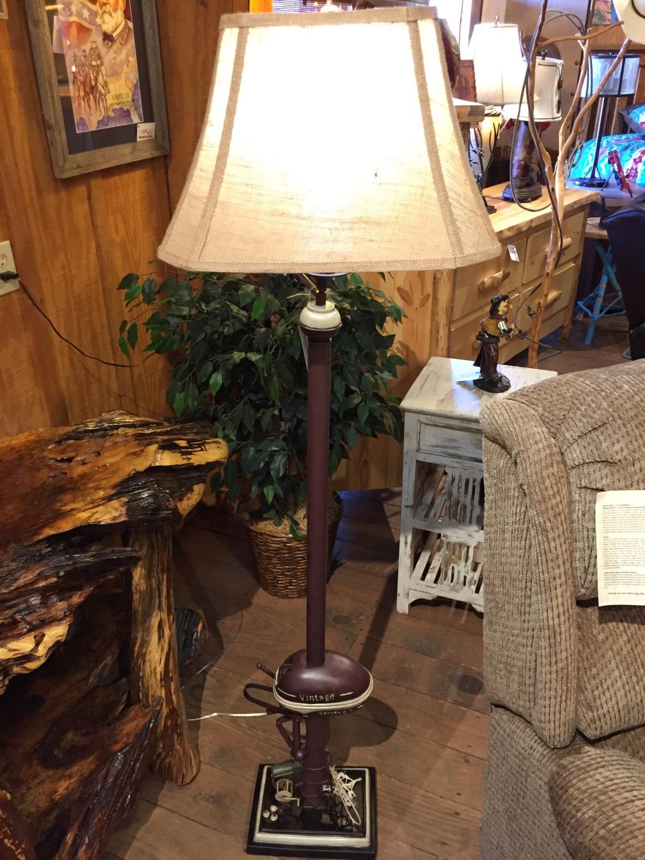 """65""""H Vintage Boat Motor Floor Lamp"""
