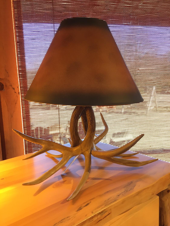 Faux Whitetail Antler Desk Lamp