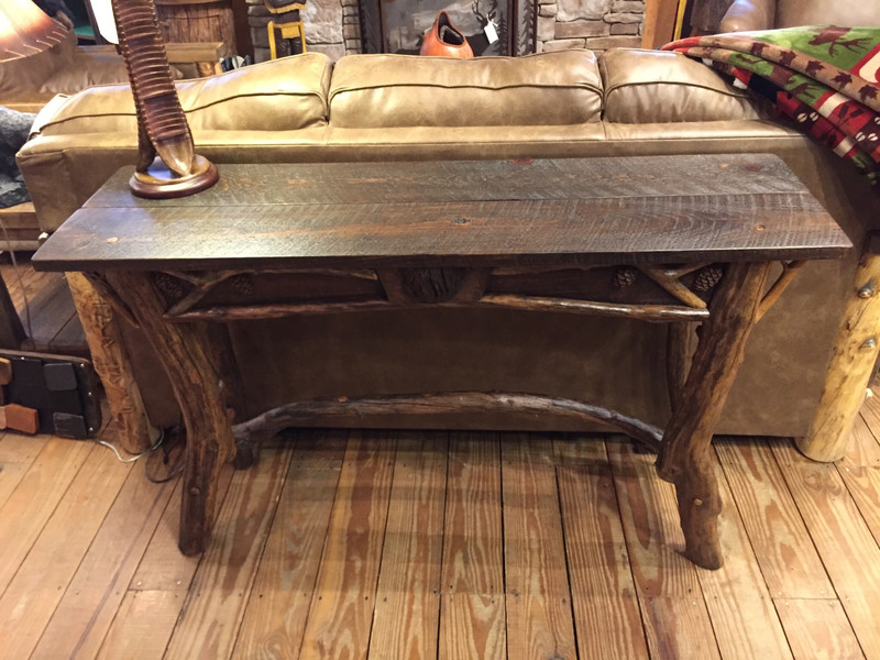 Woodland Barnwood Console/Entry Table with Sourwood Legs