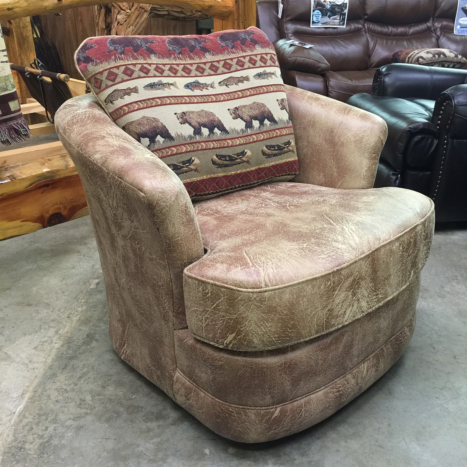 Barrel Chair Swivel Glider